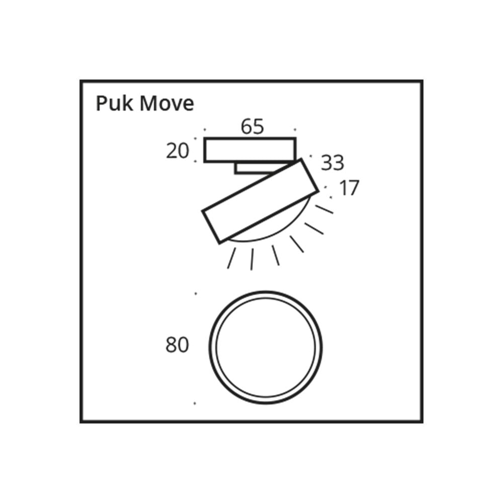 Top Light LED Deckenlampe Puk Move dreh- & schwenkbar 7