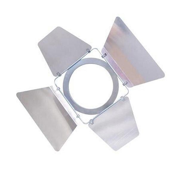 Torblende für Studiostrahler Fair Silberfarben Chrom
