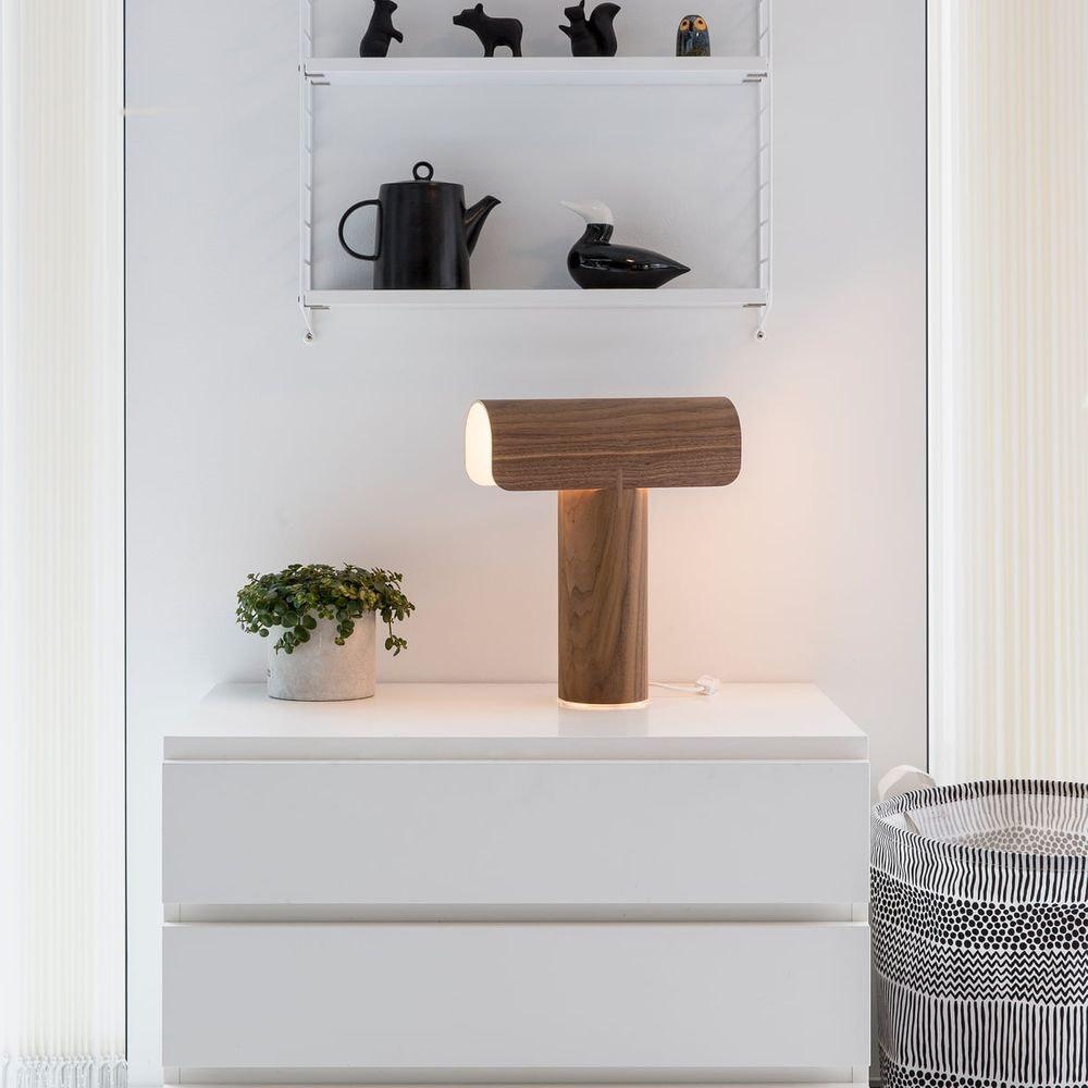 Tischleuchte Teelo 8020 aus Holz 38cm 1
