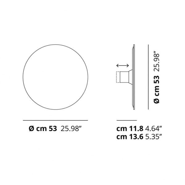 Studio Italia Design Puzzle Mega Round Ø 53cm Wand- & Deckenlampe Weiss thumbnail 5