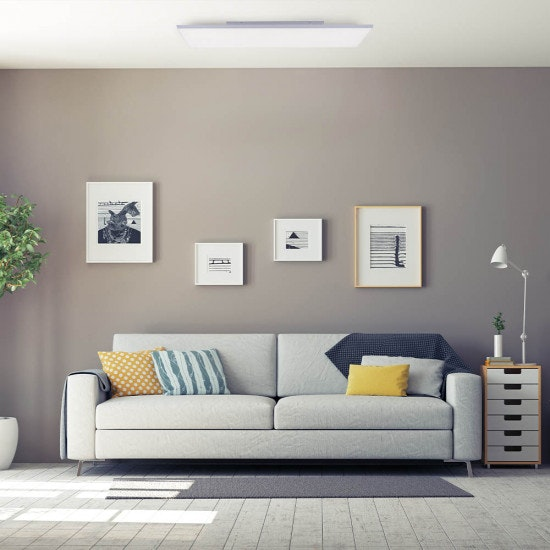Q-Flat 2.0 rahmenloses LED Deckenleuchte 100 x 25cm CCT + FB Weiß thumbnail 4