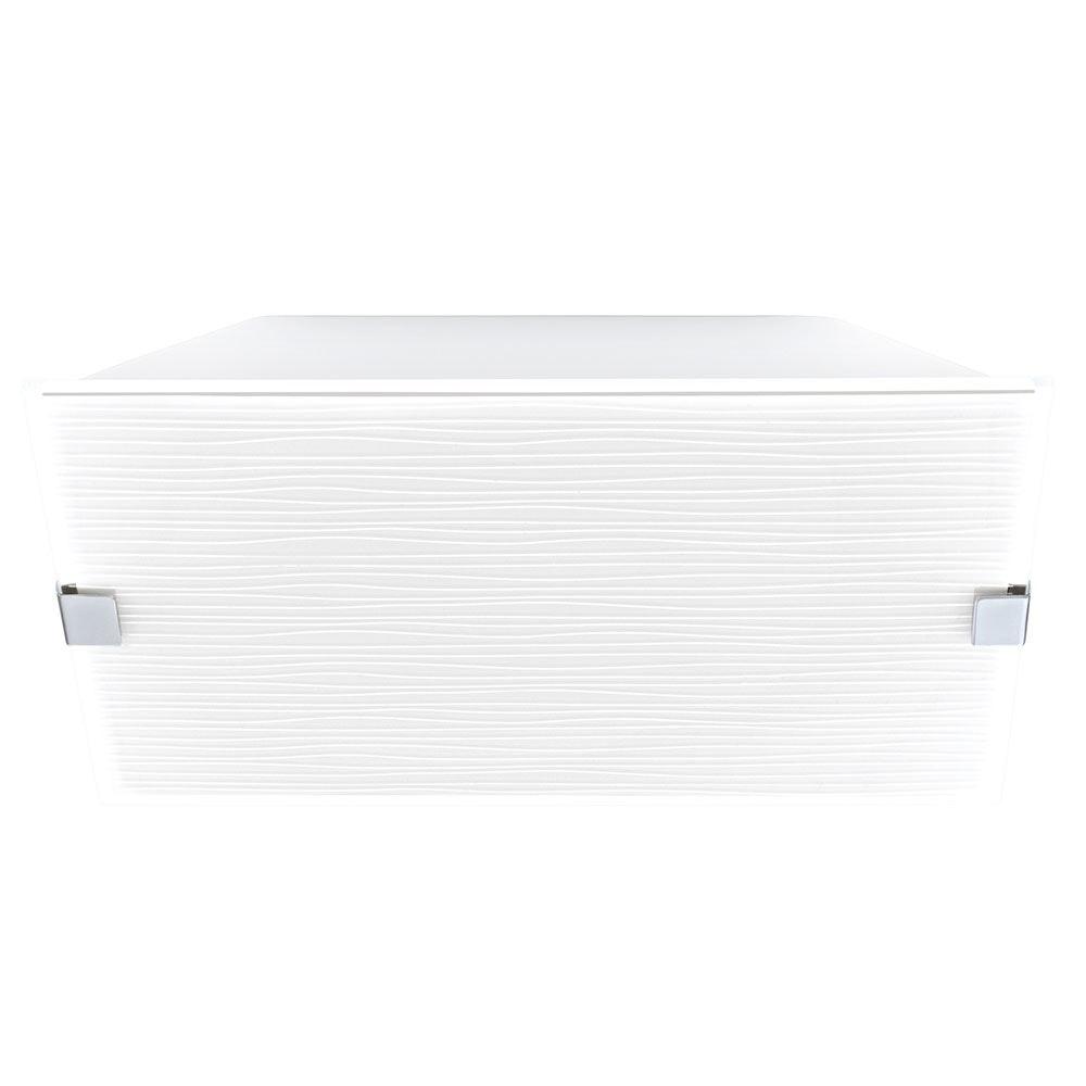 Alea 1 Wand- & Deckenleuchte 2-flammig Weiß Mit Dekor, Chrom