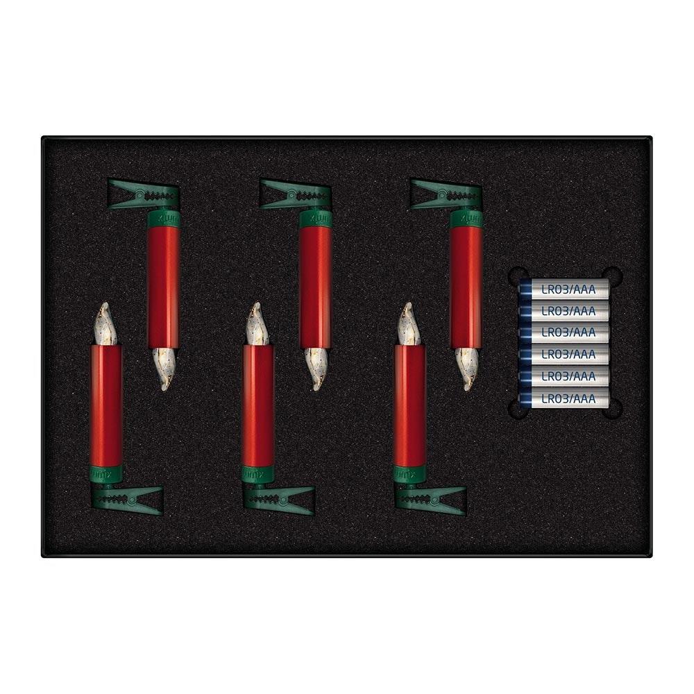 Krinner LED Christbaumkerzen Lumix Superlight Mini Rot Erweiterung 2
