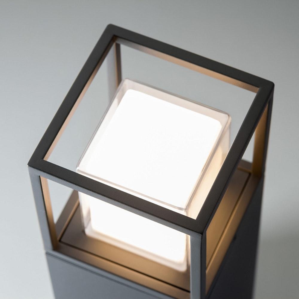 Licht-Trend LED Pollerlampe Quadro T 90cm IP54 Anthrazit 2