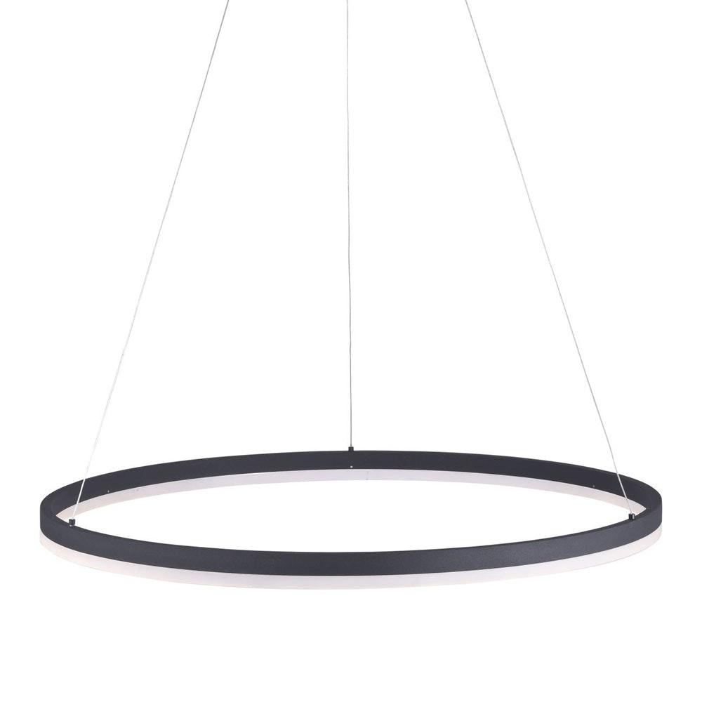 Ring L LED-Hängeleuchte dimmbar über Schalter Ø 80cm Anthrazit thumbnail 3