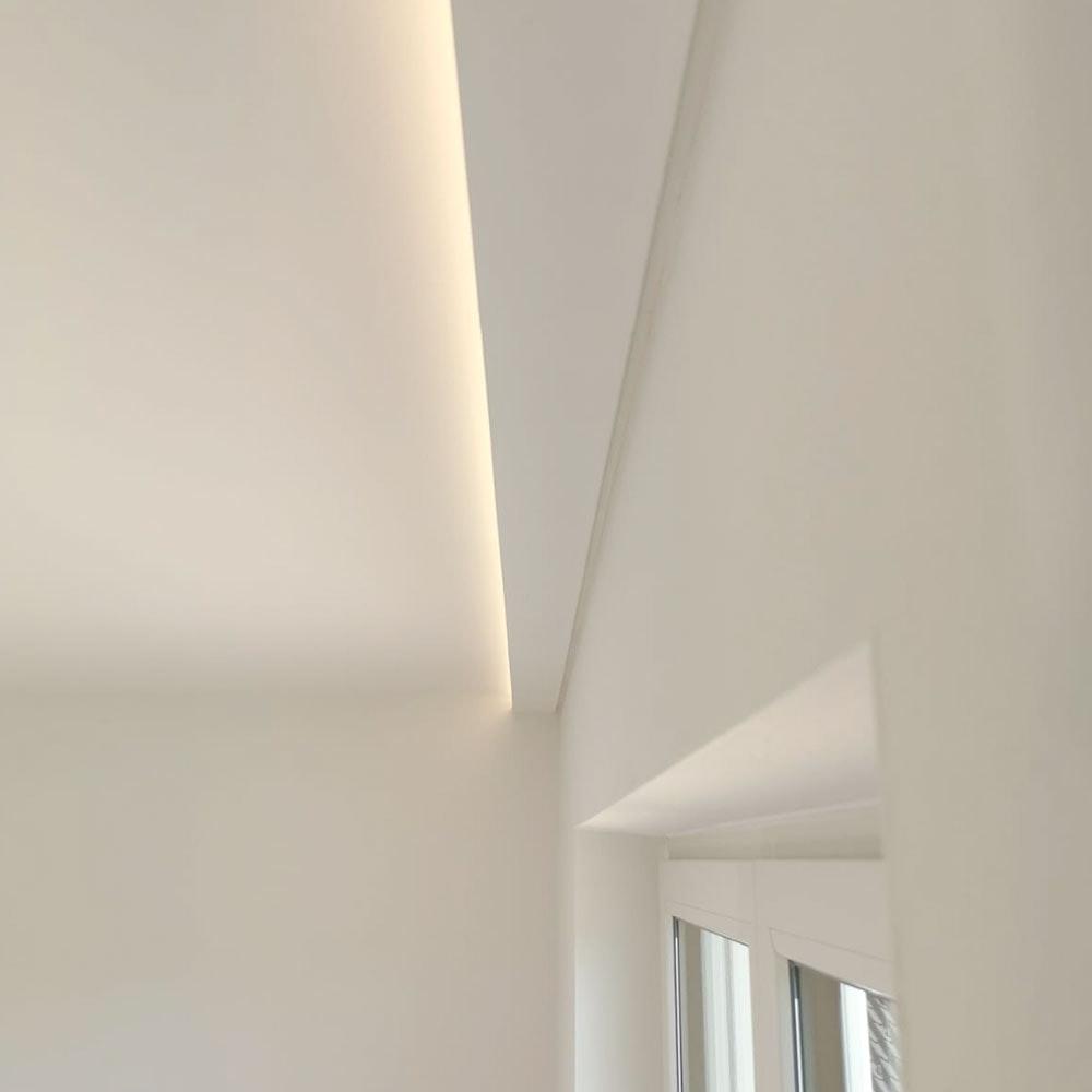 Dekor-Profil 6cm Stuckleiste 1,2 m indirekt Wand oder Decke 1
