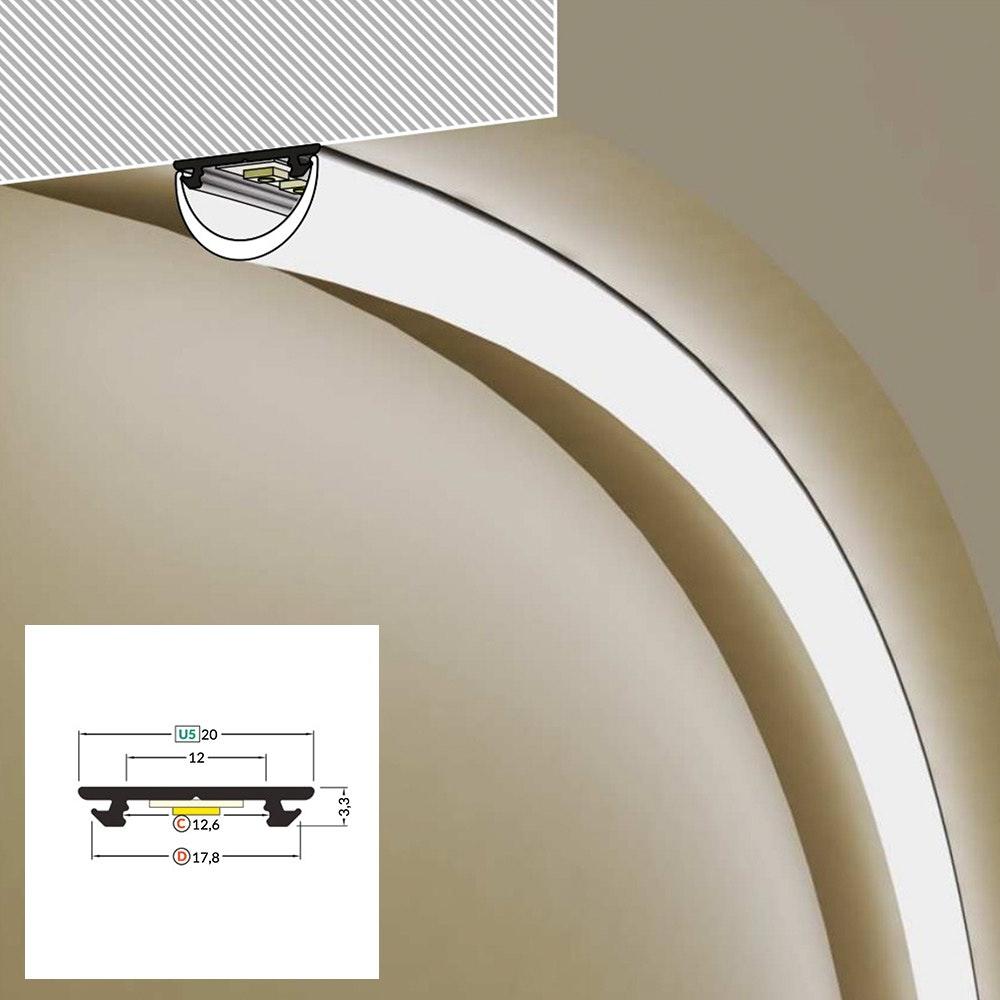 LED Aluminium Profil 2m alle Varianten  10