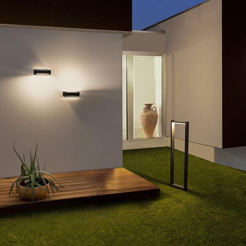Nova Luce Volver LED Pollerleuchte drehbar Schwarz 3