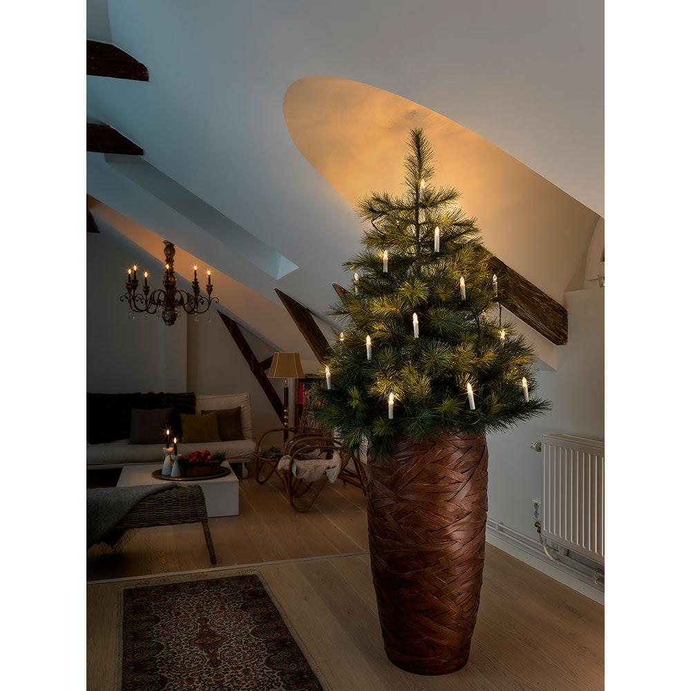 LED Baumkette Topbirnen One String 20 Warmweiße Dioden 1