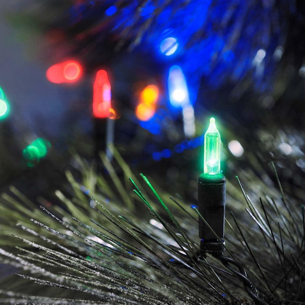 LED Minilichterkette 120 bunte Dioden IP44
