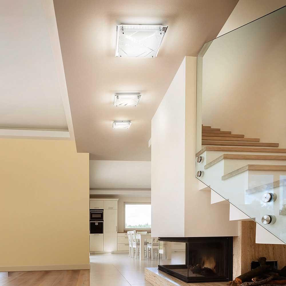 Fabas Luce klassische LED Deckenleuchte Galaxy Weiß 2