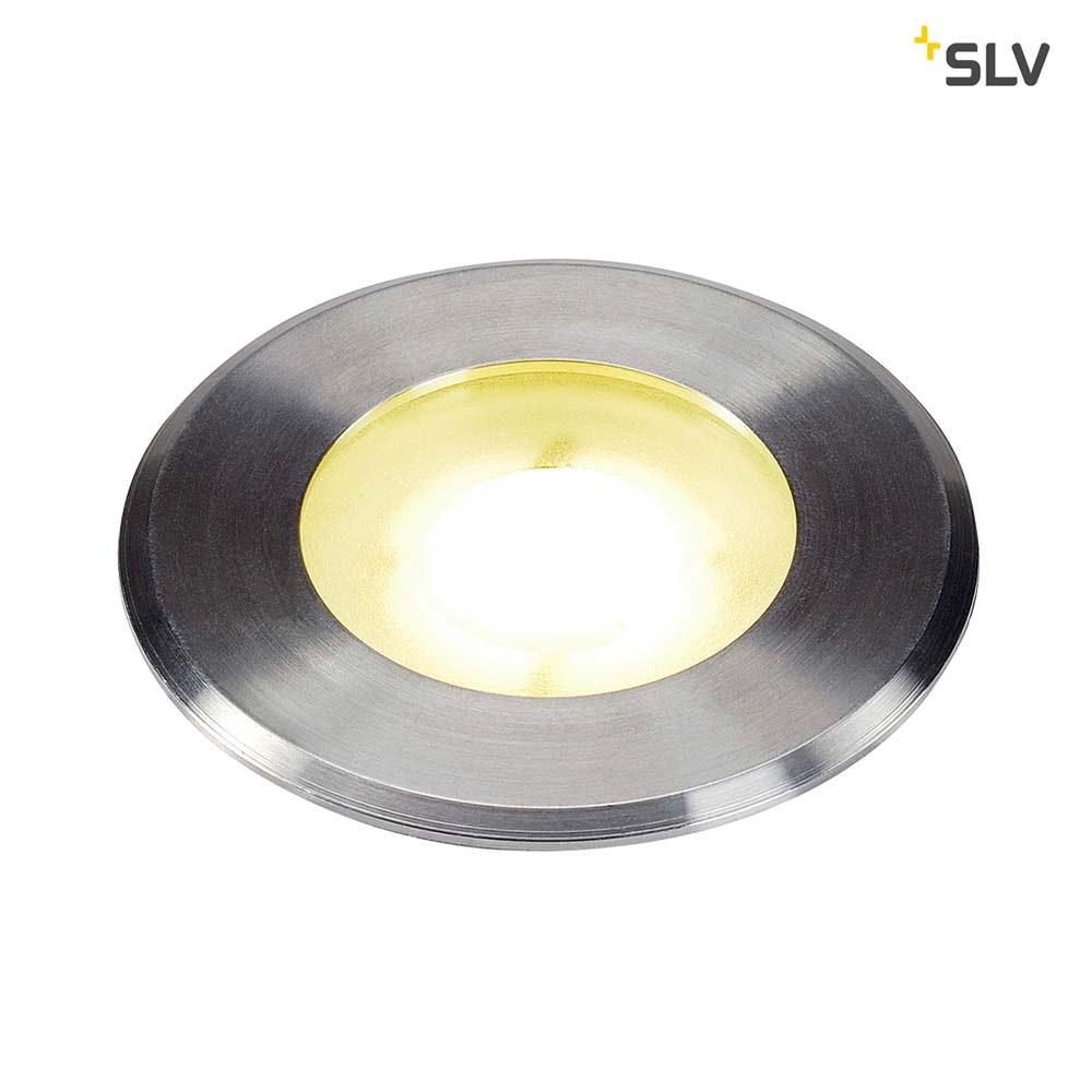 SLV Dasar Flat LED Bodeneinbauleuchte Edelstahl IP67 1
