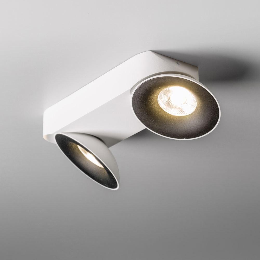 Santa 2er LED Aufbauspot schwenkbar & dimmbar 2 x 810lm Weiß, Schwarz 2