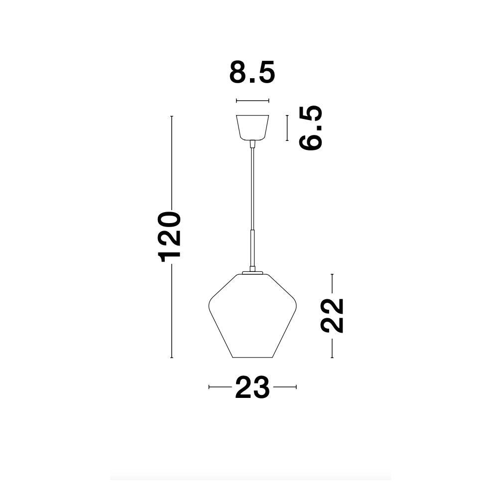 Nova Luce Veiro Hängeleuchte mundgeblasenes Rauchglas 6