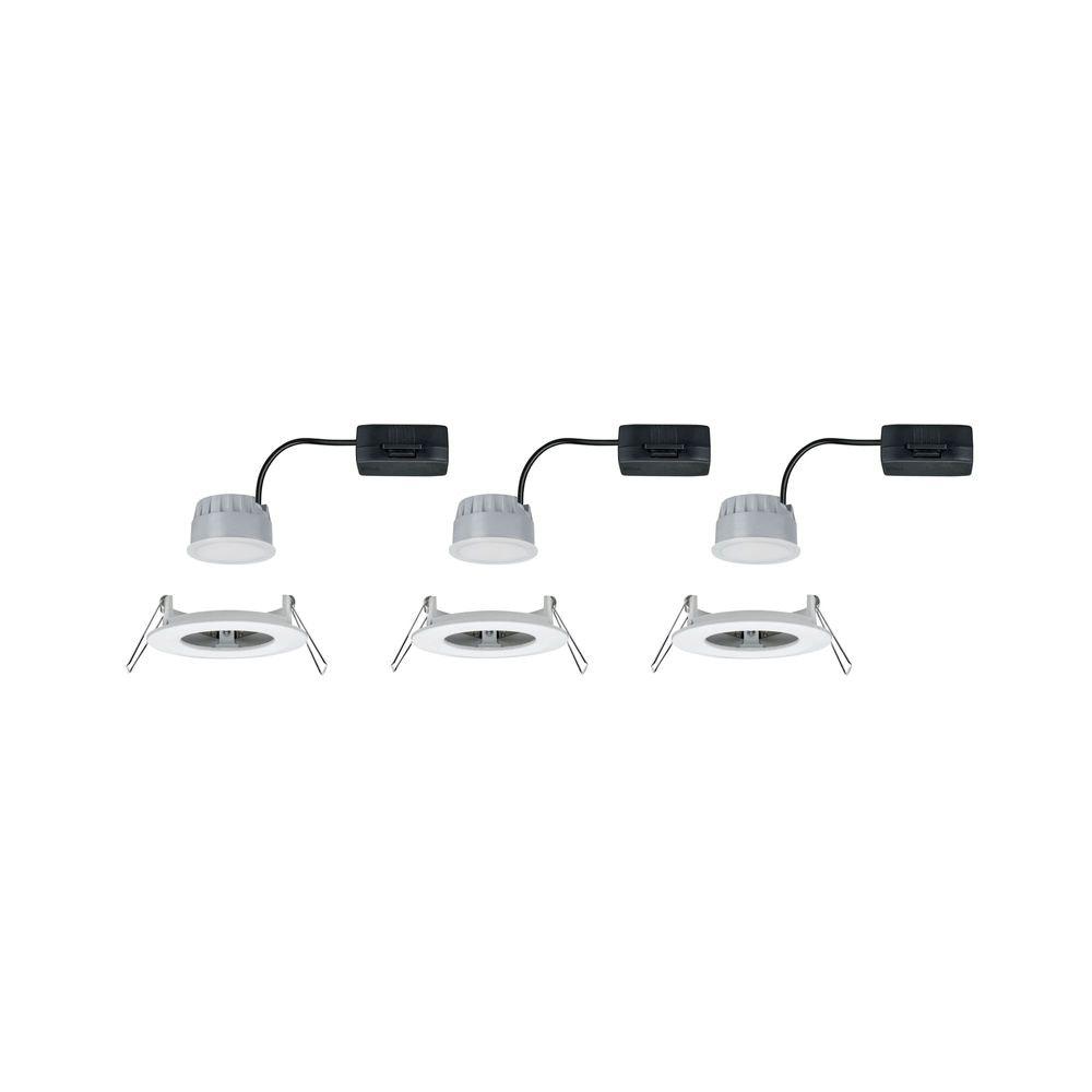3er-Set LED Einbauleuchte Nova rund 3-Stufen Dimmbar Weiß 2