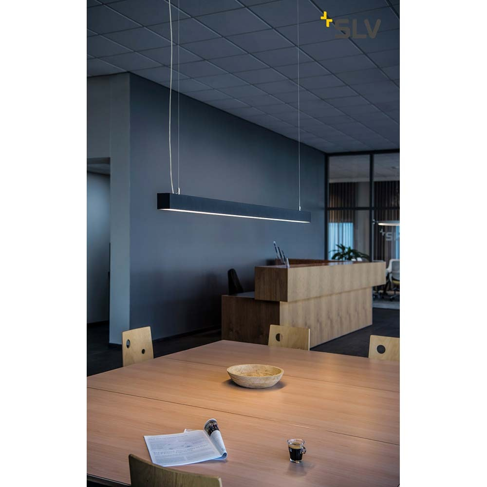 SLV Q-Line Single LED Pendelleuchte Schwarz 3