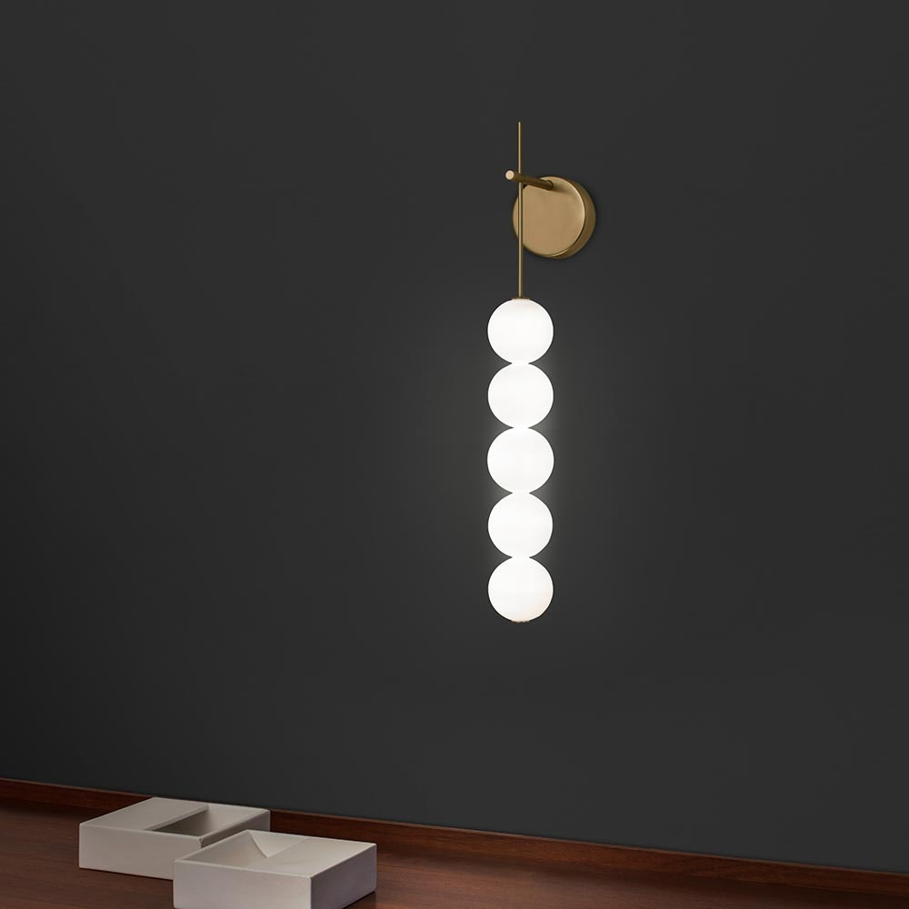 Terzani Abacus LED Wandlampe mit 5 Kugeln