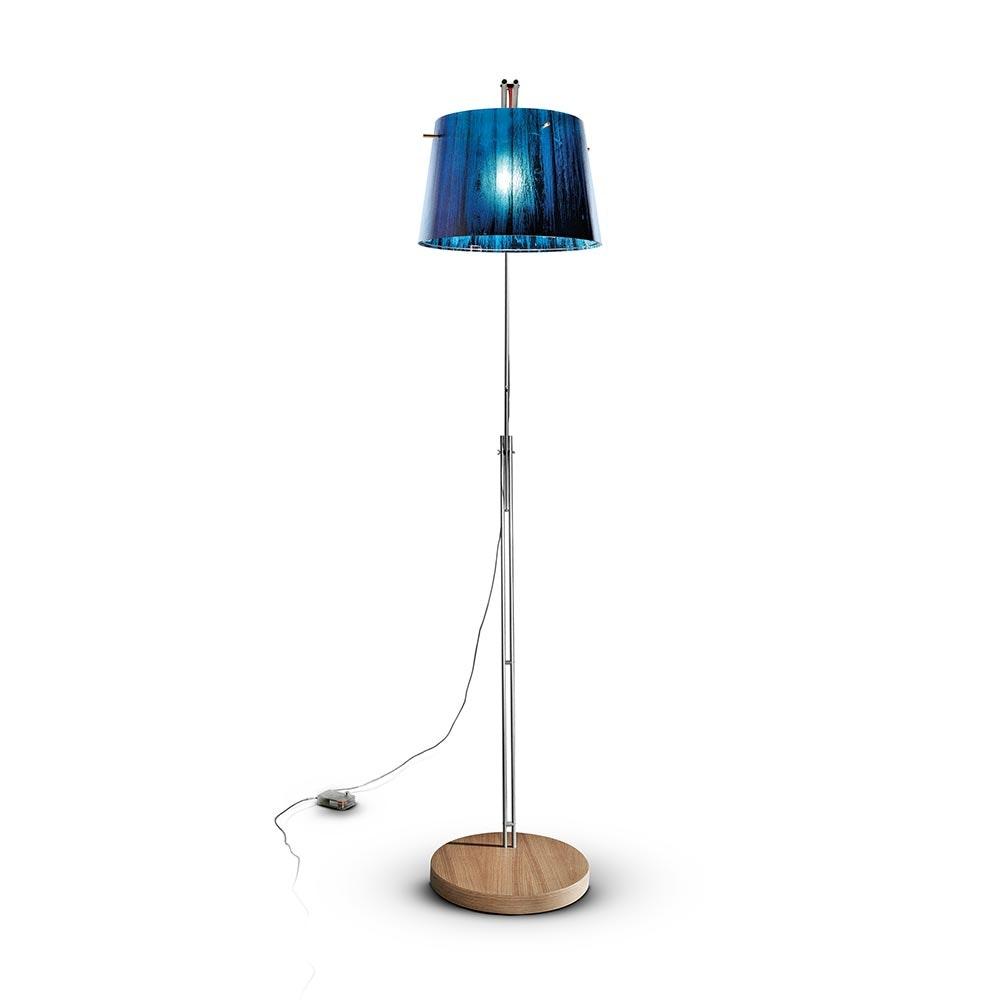 Slamp Stehlampe Woody Blau 2