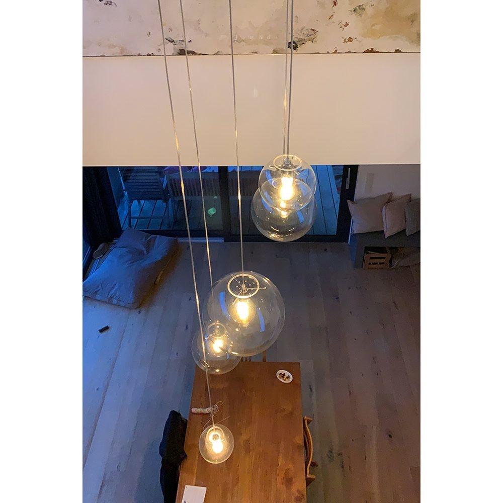 s.LUCE Orb Glaskugel Galerieleuchte 5m Abhängung 29