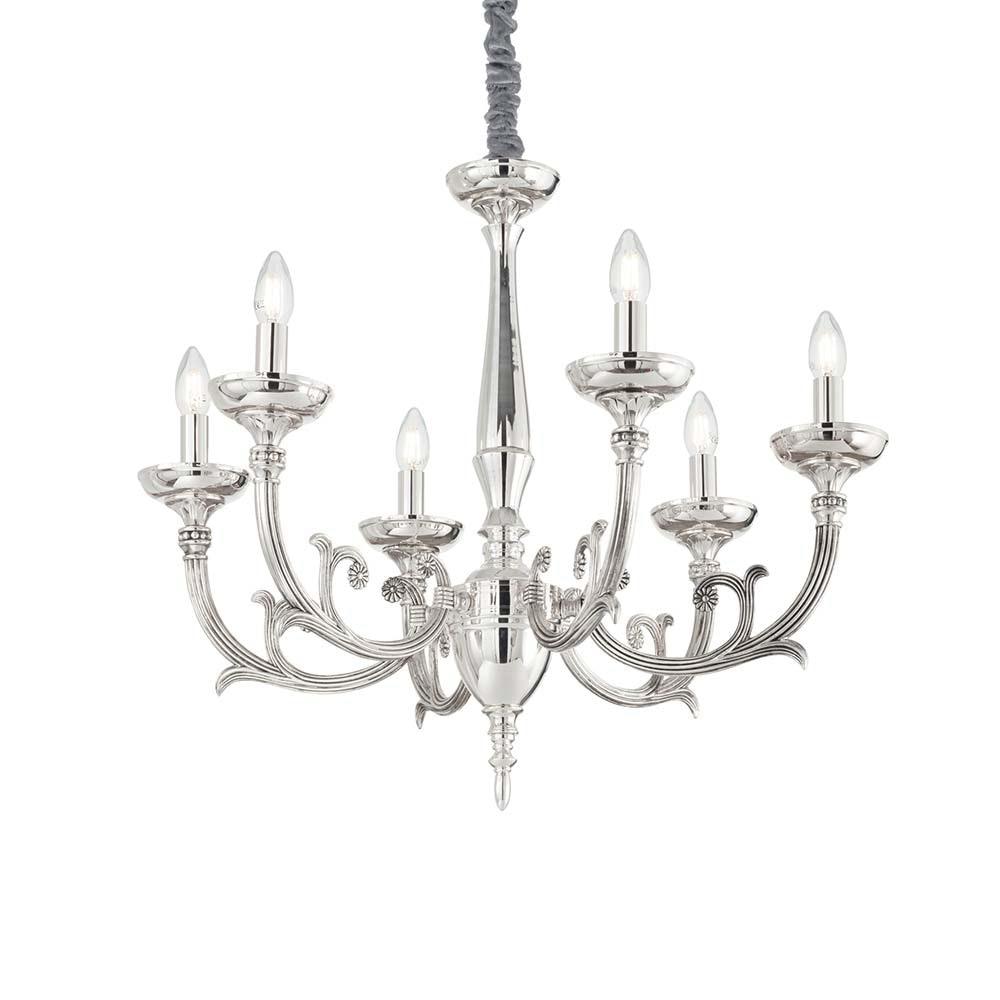 Ideal Lux Hängeleuchte Lancelot Sp6 Silberfarben