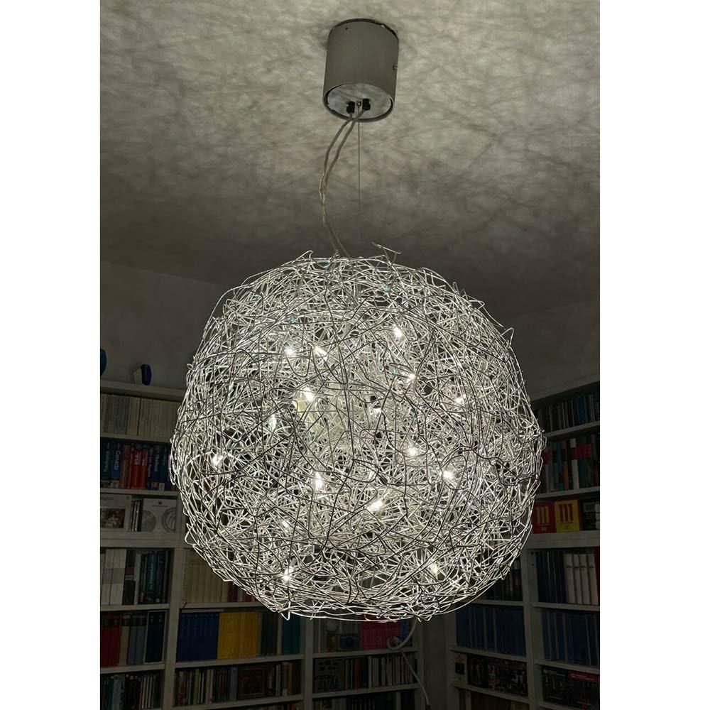 Catellani & Smith Fil de Fer LED Hängelampe Drahtgeflecht Dimmbar