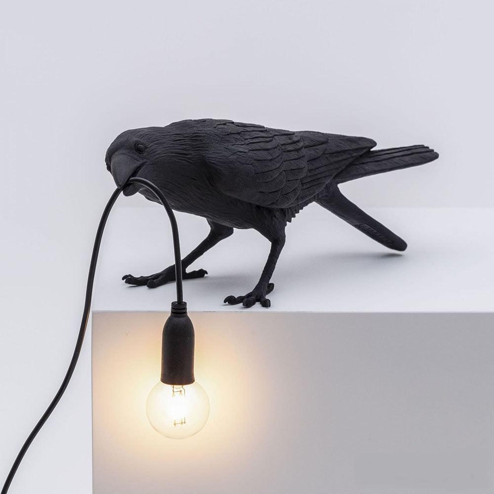 Seletti Bird Aussen-Tischleuchte gebeugt 2