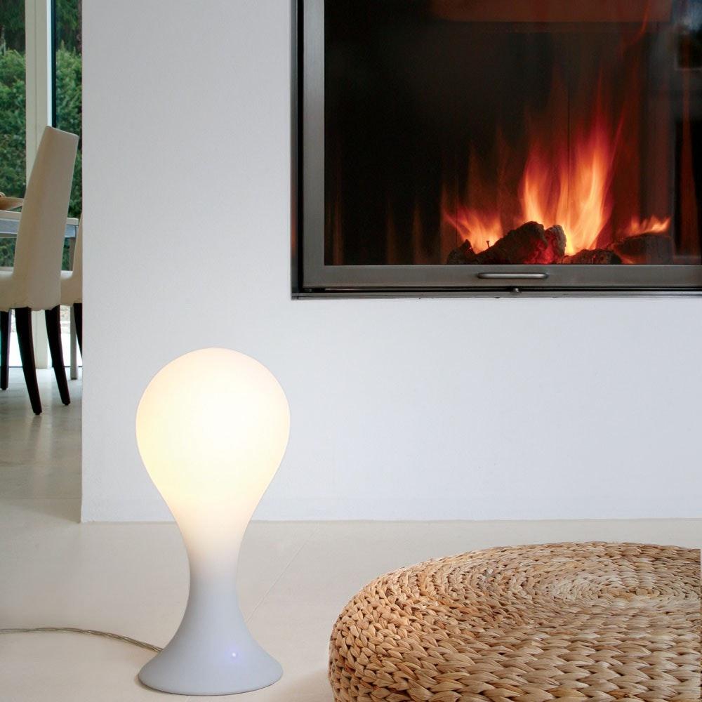 Drop_4 Tischleuchte H: 40cm Liquid-Light Weiß 2
