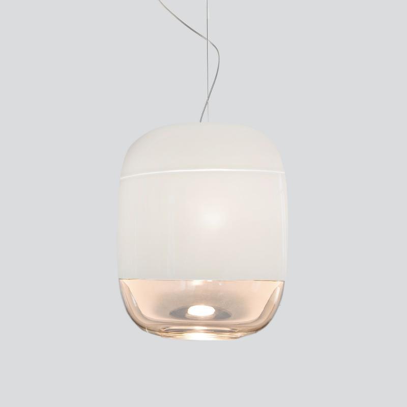 Prandina Hängeleuchte Glas Gong S3 Elfenbein 2