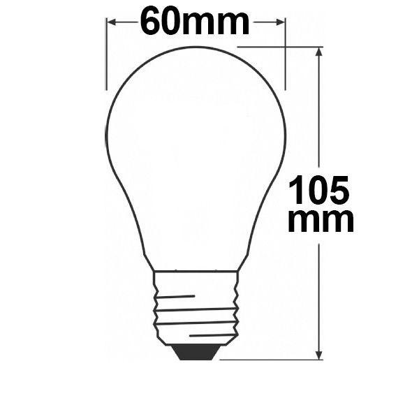 E27 LED Retro dimmbar 8W extra Warmweiß 2200K  2