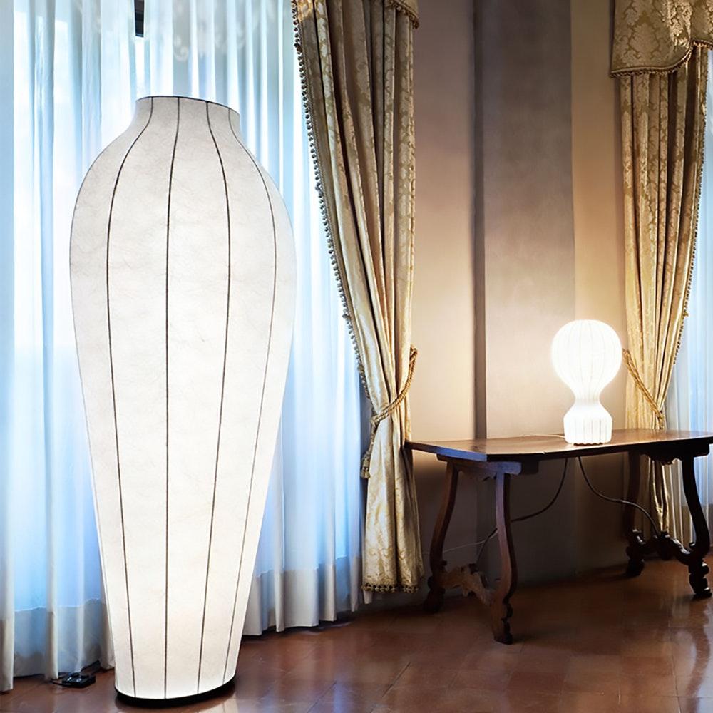 FLOS Chrysalis Cocoon Stehleuchte Weiß