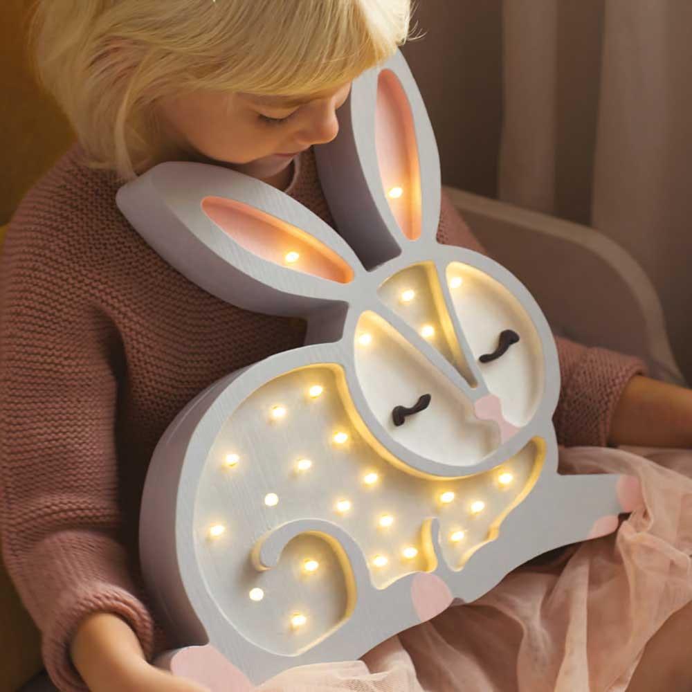 Little Lights Kinder Wand- & Tischleuchte Hase  1
