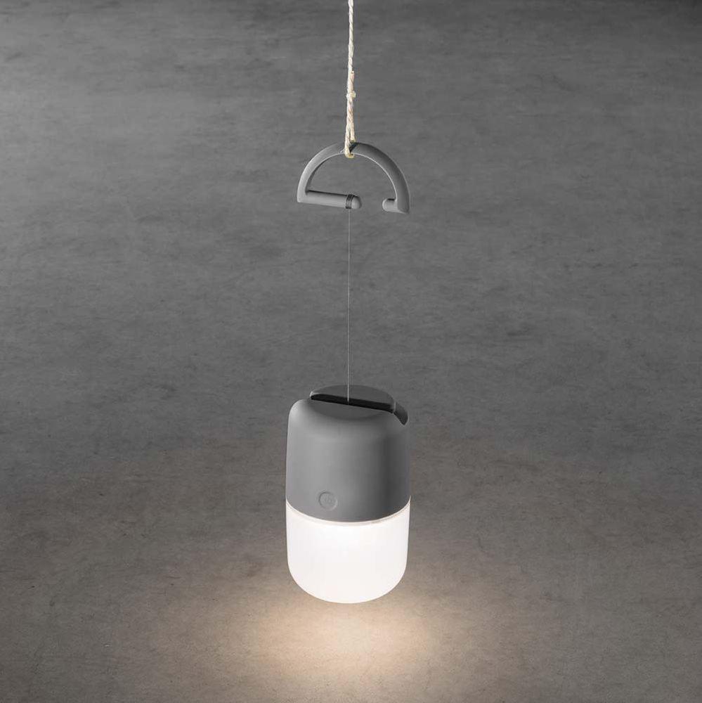 LED Solarleuchte Assisi zum Hängen oder Hinstellen Grau 3