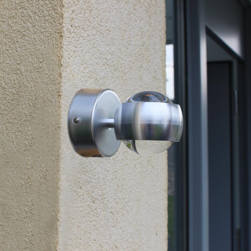 Ulm Design LED-Außenwandleuchte IP44 Alu-Matt 1