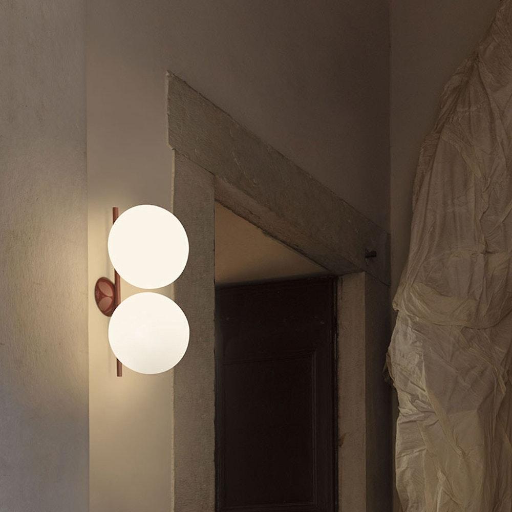 FLOS IC C/W2 Double Deckenlampe oder Wandleuchte