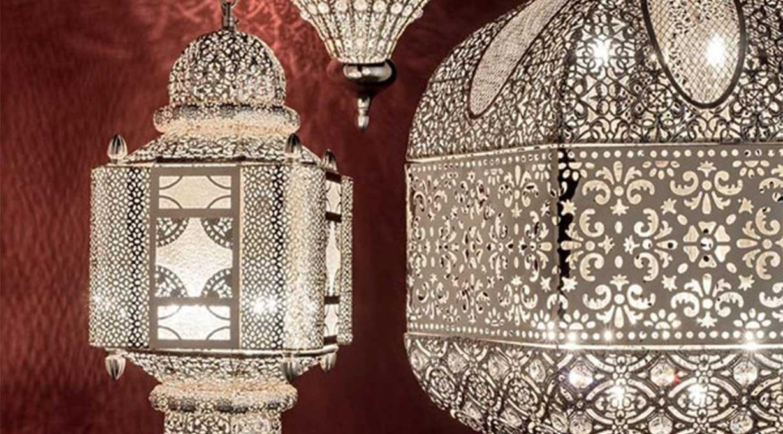Orientalische Hängeleuchte 3 verschiedene Muster