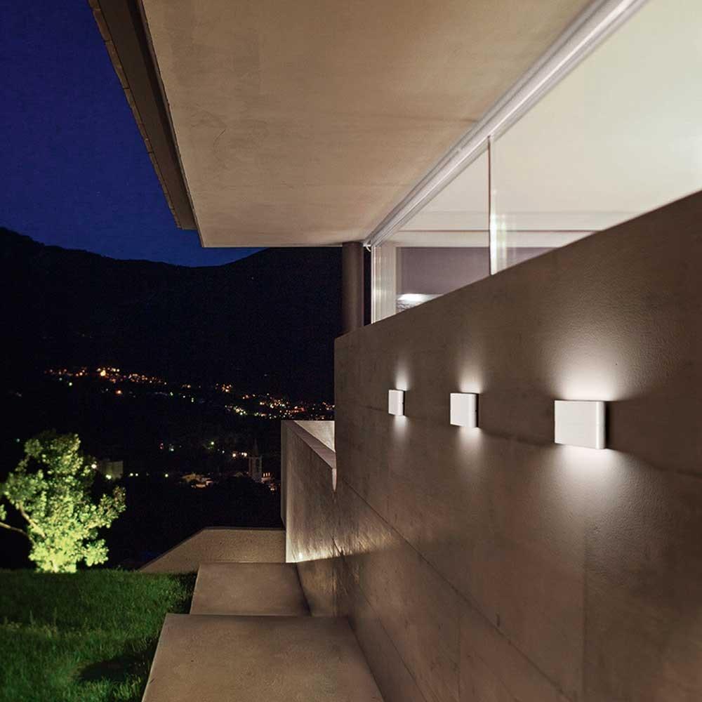 Fabas Luce Casper LED Wandleuchte 2-flammig IP54 1