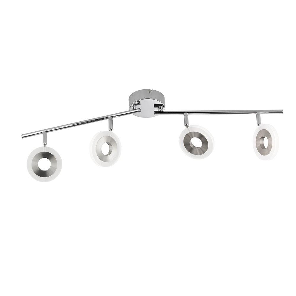 LED Spot Divina 4-flammig 4 x 360lm Nickel-Matt, Chrom
