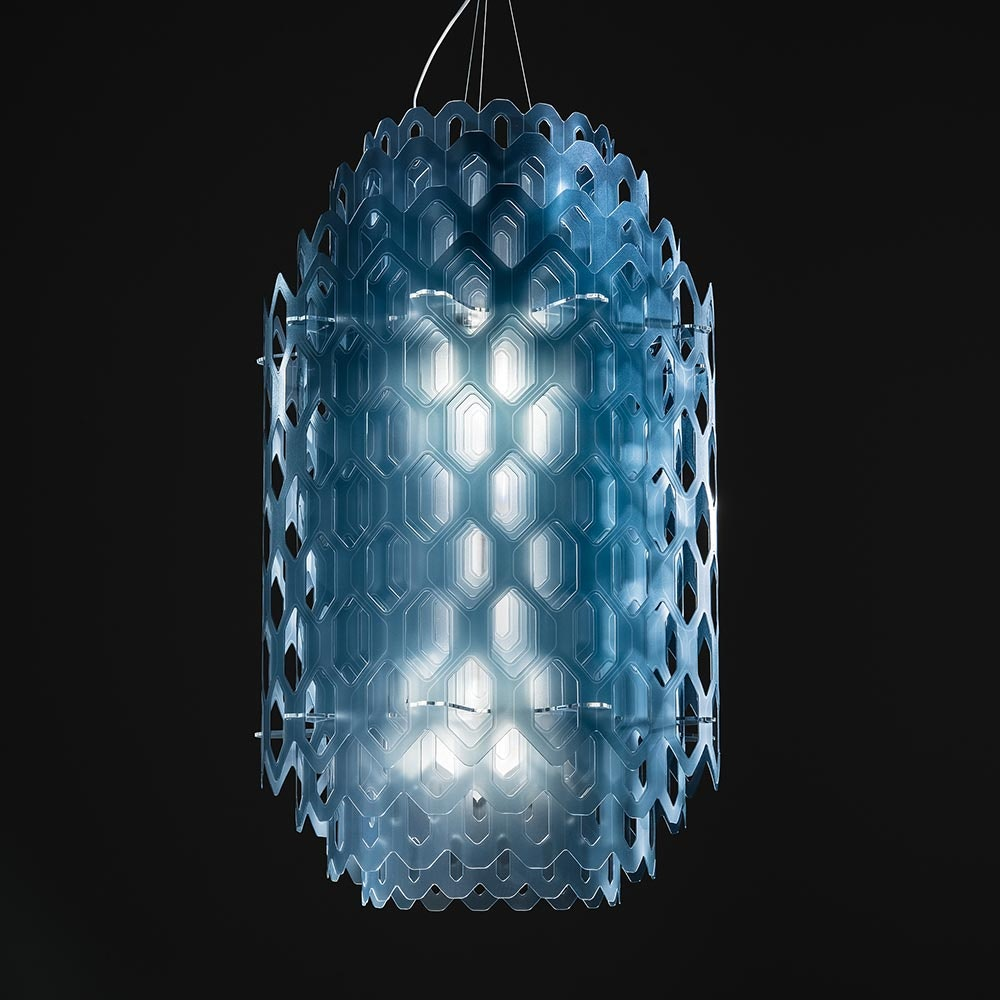 Slamp LED Hängeleuchte Chantal Small 4000lm 2700K Blau