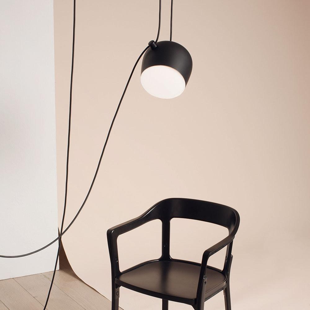 FLOS Aim small LED Pendelleuchte mit Kabel und Dimmer