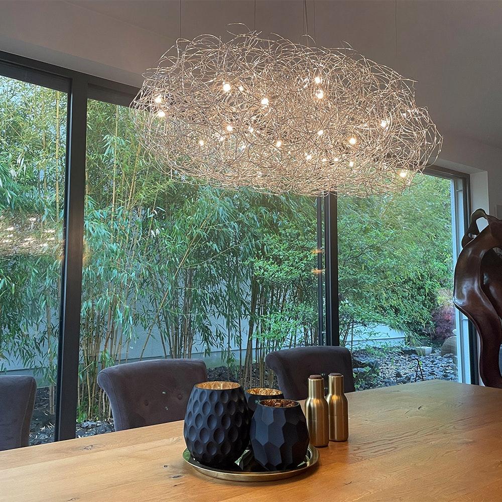 Catellani & Smith Fil de Fer Nuvola LED Hängeleuchte Drahtgeflecht Dimmbar 1