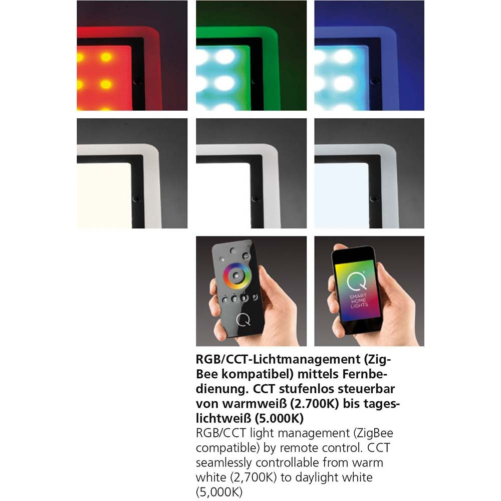 LED Einbaulampe Q-Vidal Erweiterung RGB+CCT 5