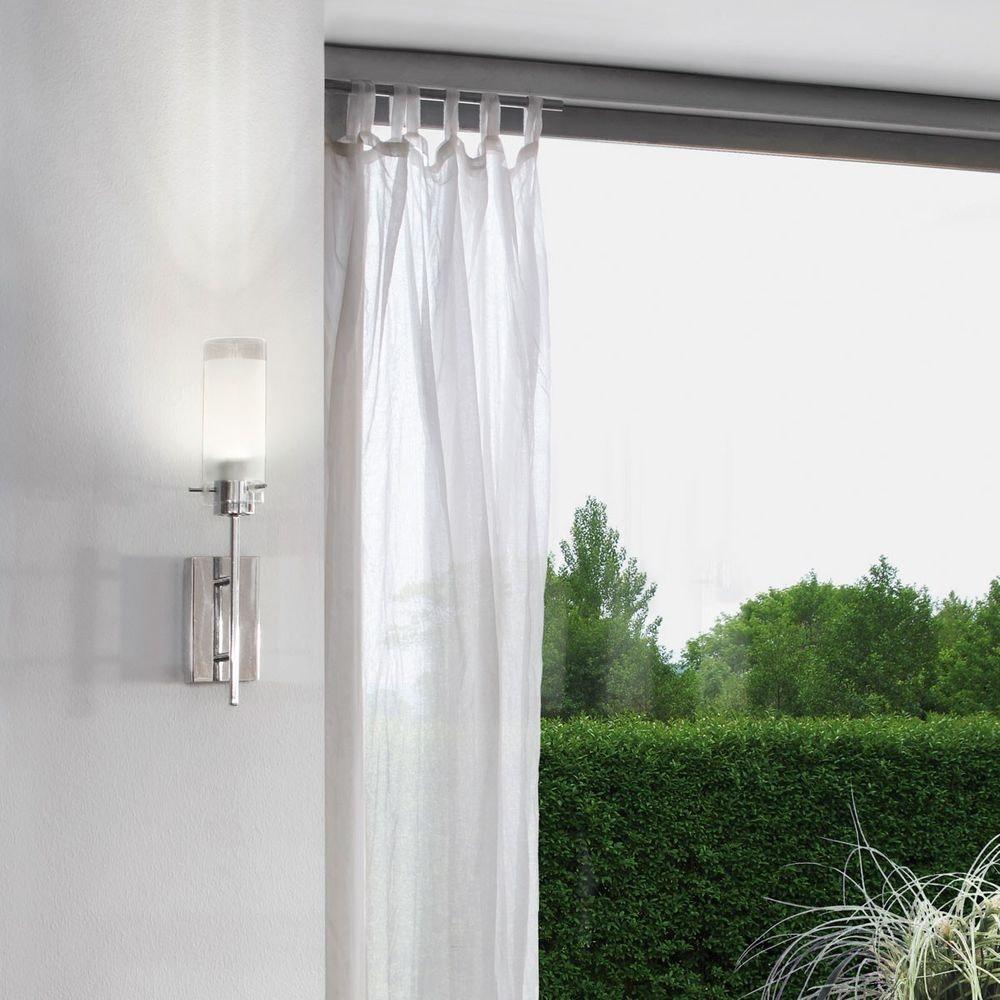 Aggius LED Wand- & Deckenleuchte Weiß, Klar, Chrom 1