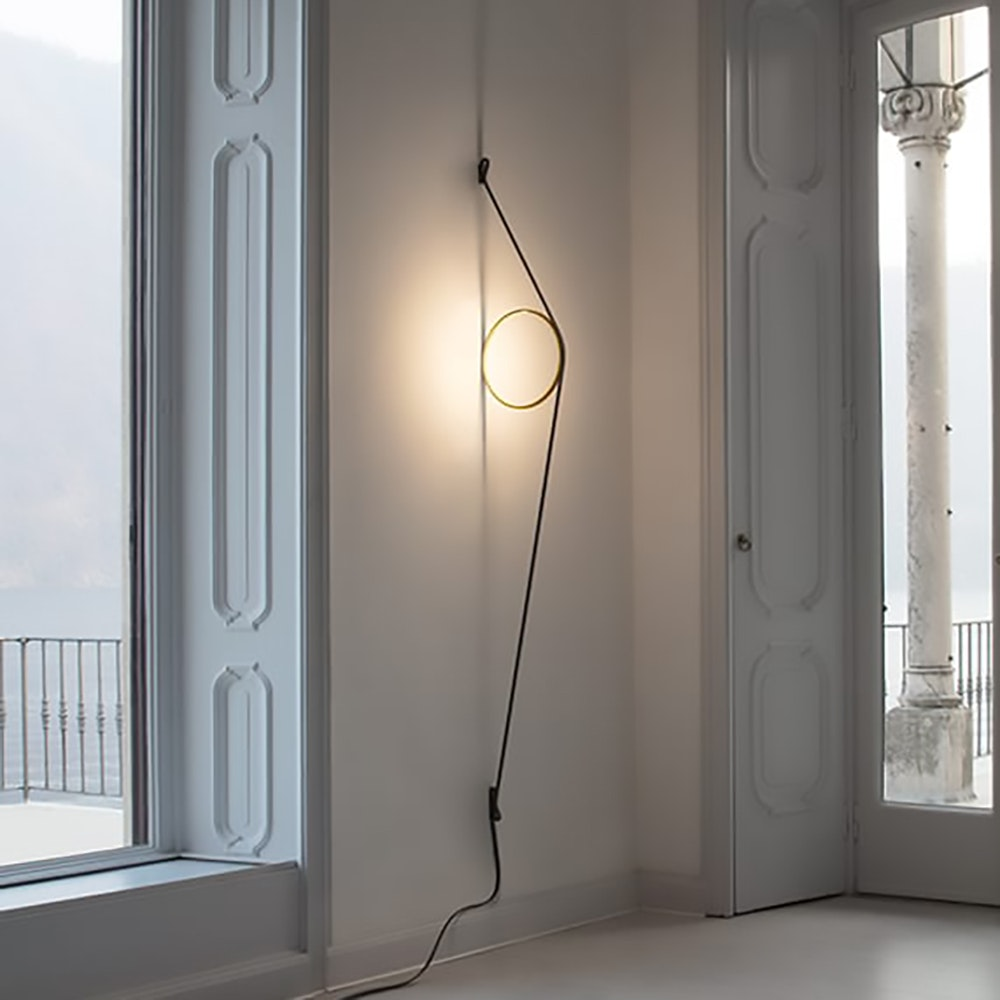 FLOS Wirering LED Wandleuchte mit Ring 7