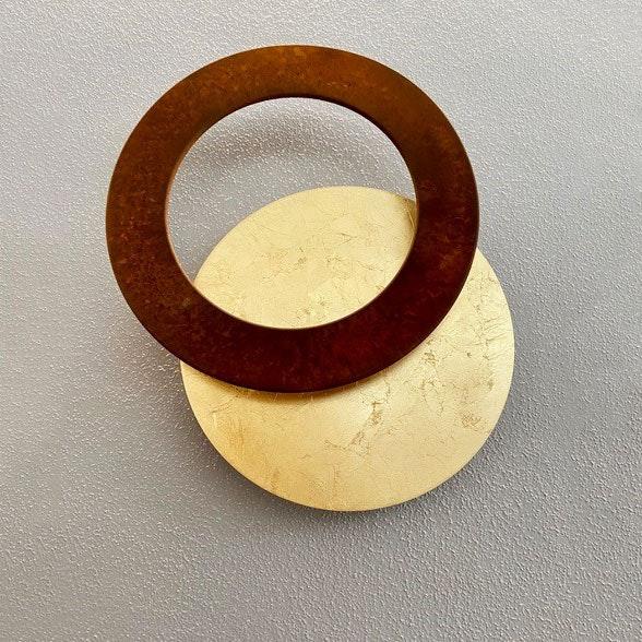 Icone LED Wandleuchte Vera Ø 31cm Gold, Rost 2