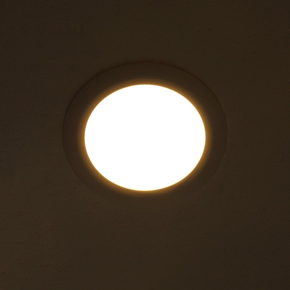 Indirektes Einbau LED-Panel 1030lm dimmbar Ø 17,3cm Warm Weiß 4