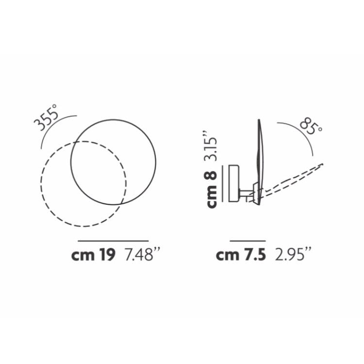 Studio Italia Design Puzzle Round Single LED Wand- & Deckenlampe thumbnail 3