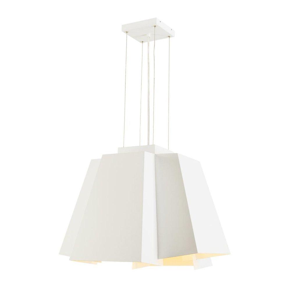 SLV SOBERBIA LED Pendelleuchte 60 eckig Weiß 60 SMD LED 20W 3000K 2