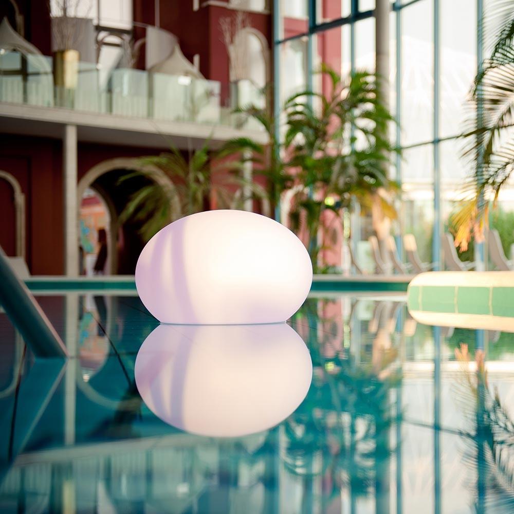 LED Akkulampe Flatball L mit App-Steuerung 1