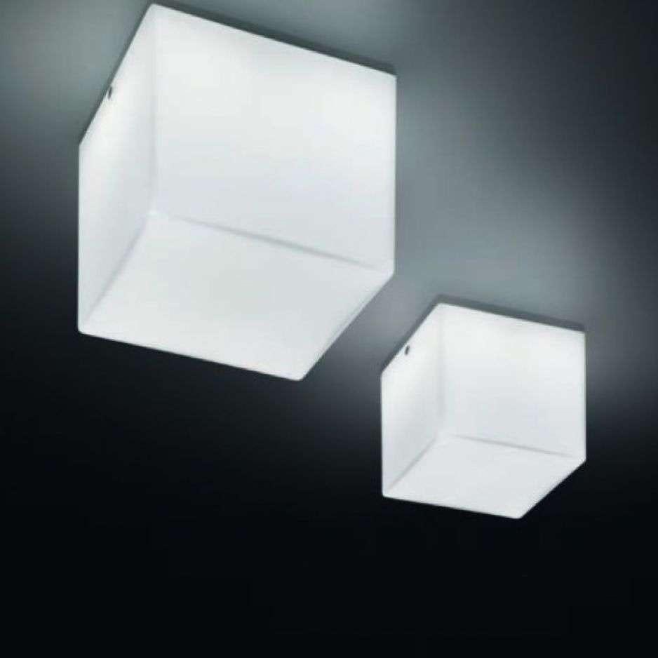 Panzeri Kubik Wand- oder Deckenlampe Glaswürfel 1