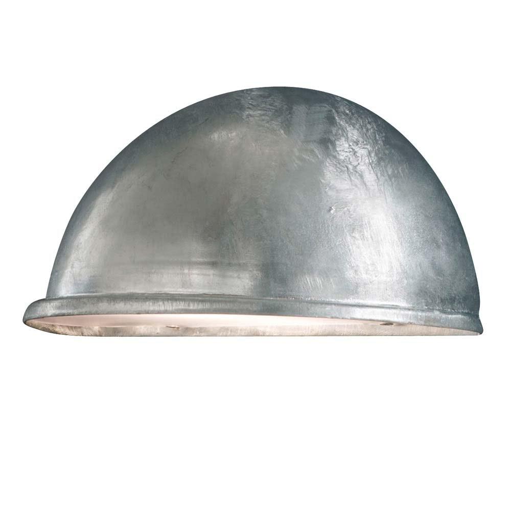 Torino Aussen-Wandleuchte galvanisierter Stahl, Acrylglas